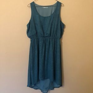 Blue hi-lo chiffon tank top dress from Maurice's